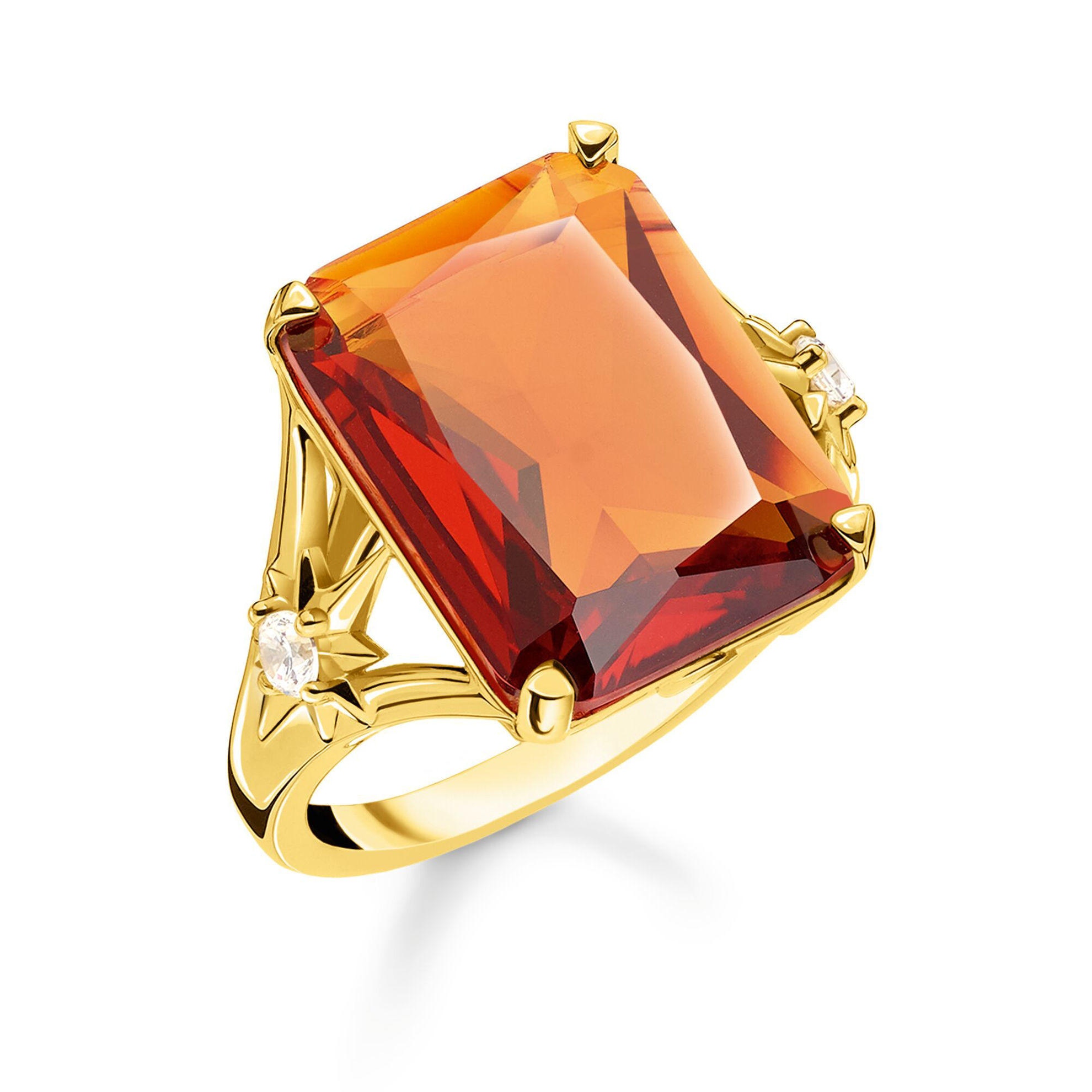 Picture of Large Orange Stone Ring