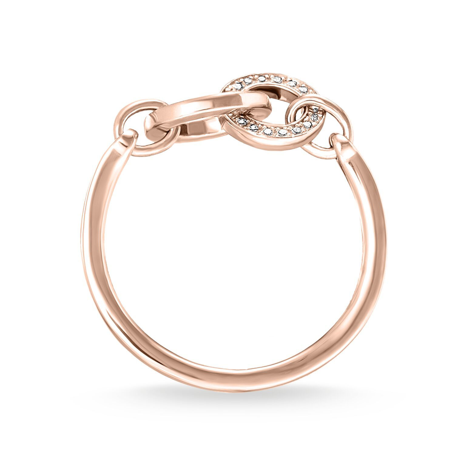 Picture of Interlinked Together Forever Rose Gold Ring