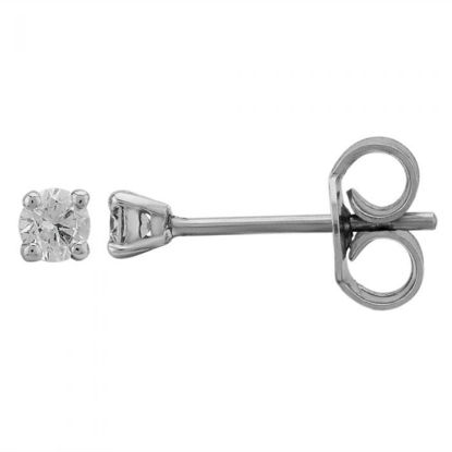 Picture of White Gold 0.20ct Claw-set Diamond Stud Earrings