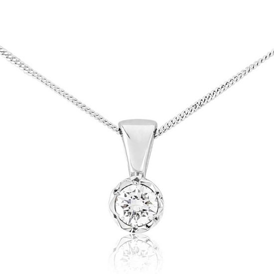 Picture of White Gold Diamond Pendant