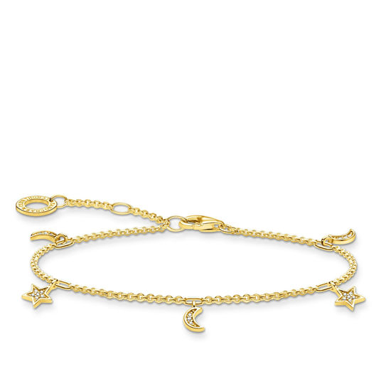 Picture of Dinky Star and Moon Bracelet in Gold