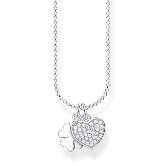 Picture of Heart and Clover Necklace