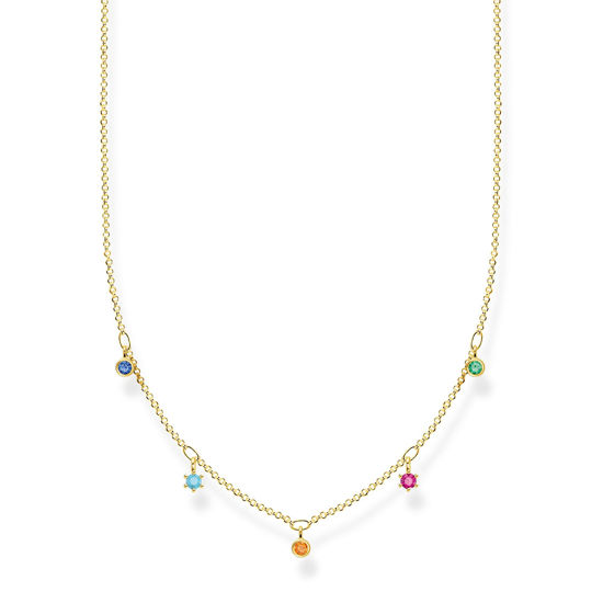Picture of Multi-coloured Drop Necklace