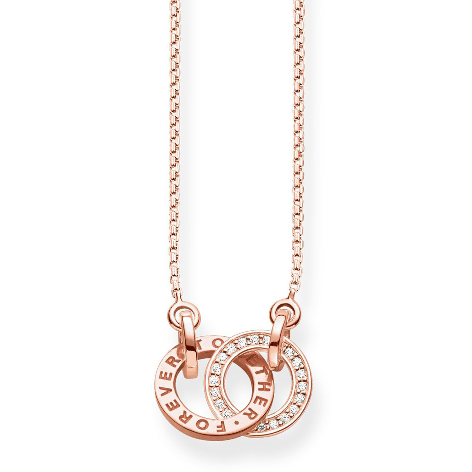 Picture of Together Forever Necklace in Rose Gold