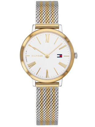 Picture of Project Z Stainless Steel Two Tone White Dial Mesh Strap Watch