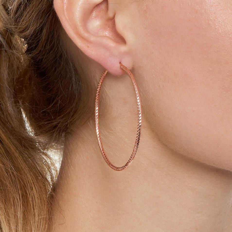 Picture of The Hoop Station La Roma in Rose Gold 56mm