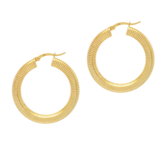 Picture of The Hoop Station La Linea Ribbed Gold 24mm