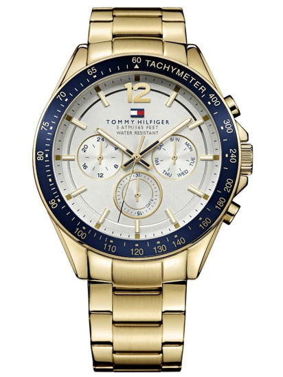 Picture of Luke Gold Plated Silver Chronograph Dial Bracelet Watch
