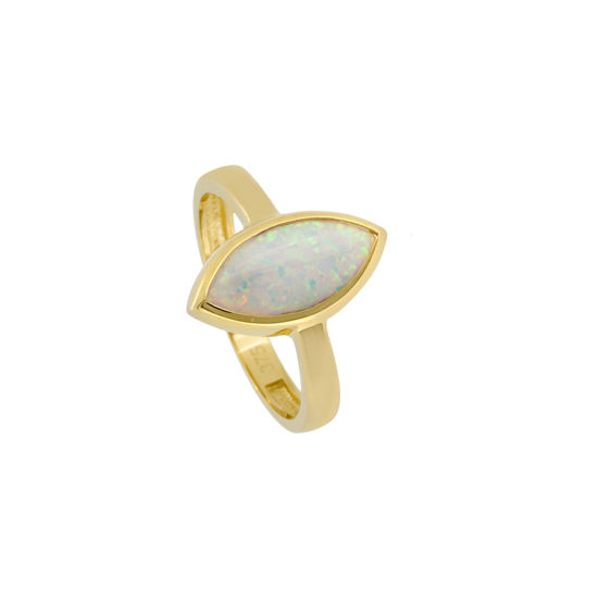 Picture of Marquis Design Cultured Opal Ring