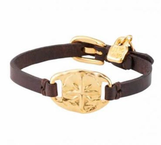 Picture of Compass Leather Bracelet