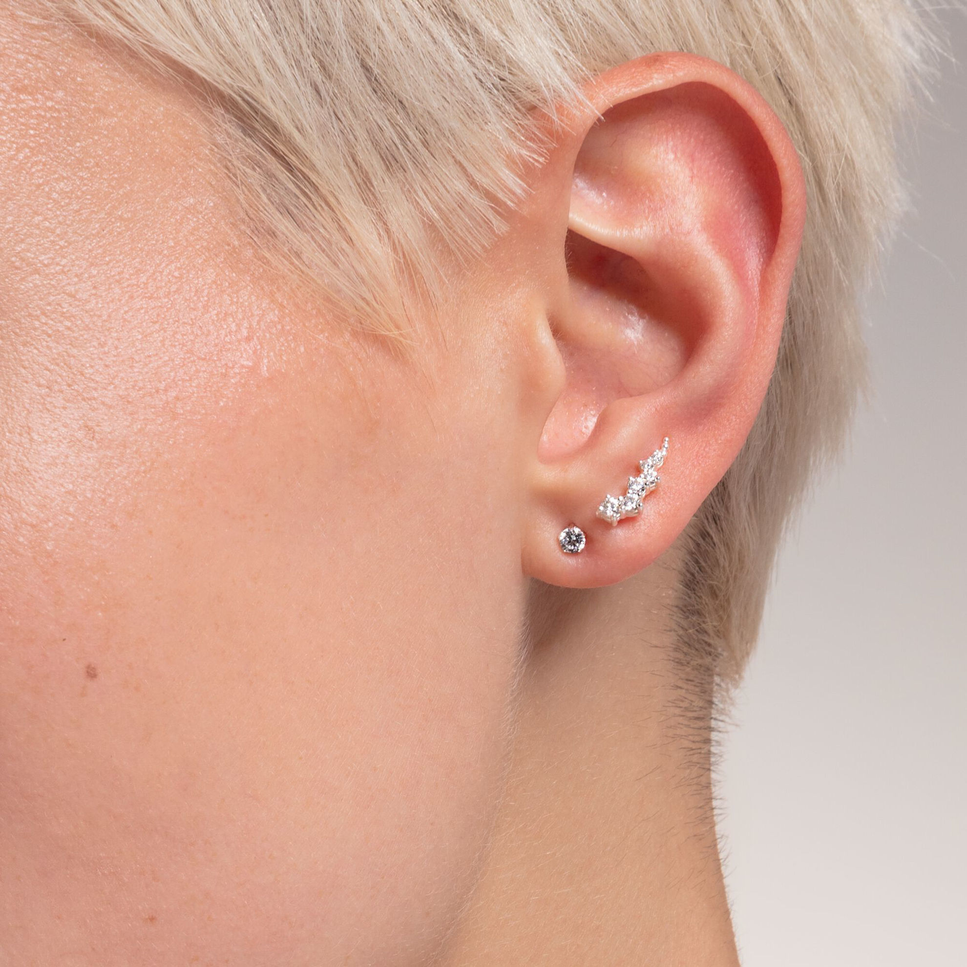 Picture of Romantic Silver Ear Climbers