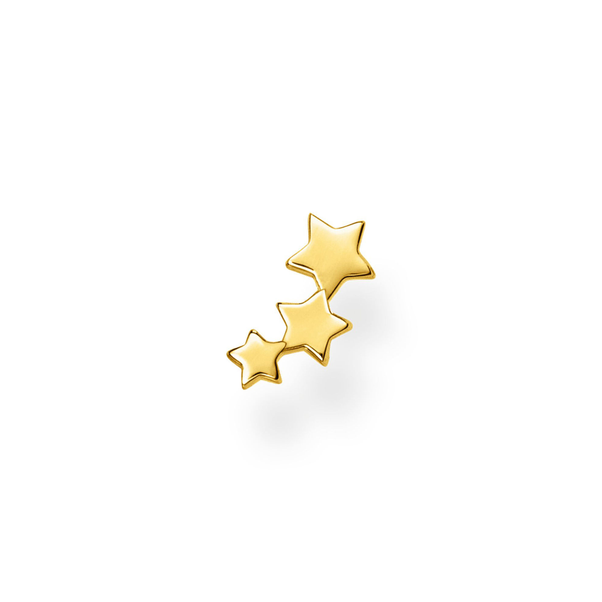 Picture of Single Piece Star Stud in Gold