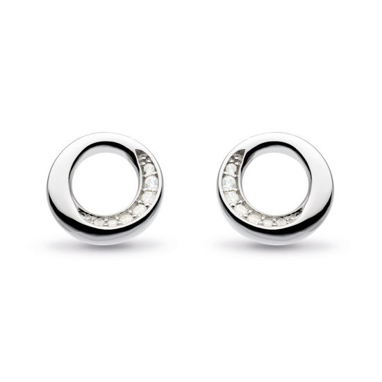 Picture of Bevel Cirque CZ Stud Earrings