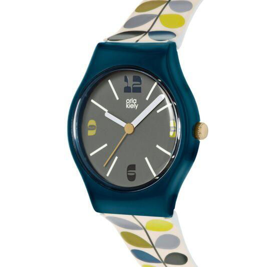 Picture of Orla Kiely Bobby Watch in Navy and Green