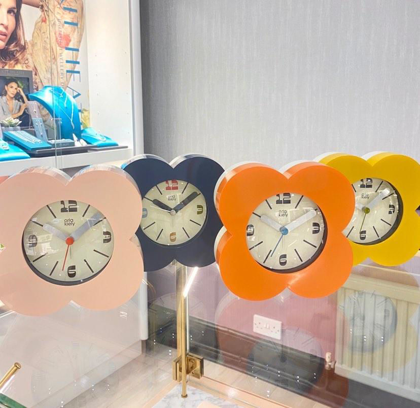 Picture of Orla Kiely Lemonade Pink Alarm Clock