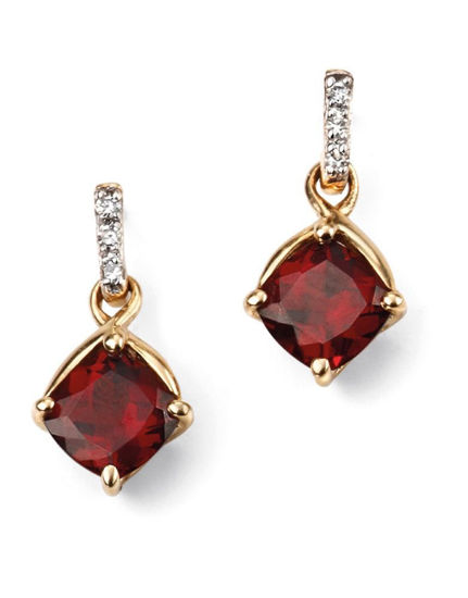 Picture of Garnet Drop Earrings