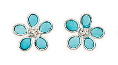 Picture of Blue Flower Stud