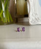 Picture of Amethyst Rectangle Earrings