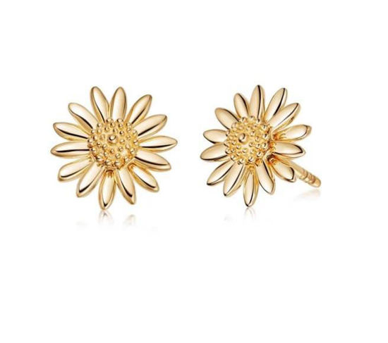 Picture of Bellis Gold Daisy Stud Earrings