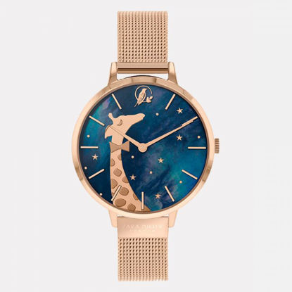Picture of Giraffe Rose Gold Mesh Watch