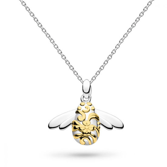 Picture of Blossom Bumblebee Gold Necklace