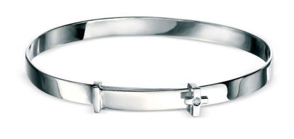 Picture of Diamond Cross Baby Bangle