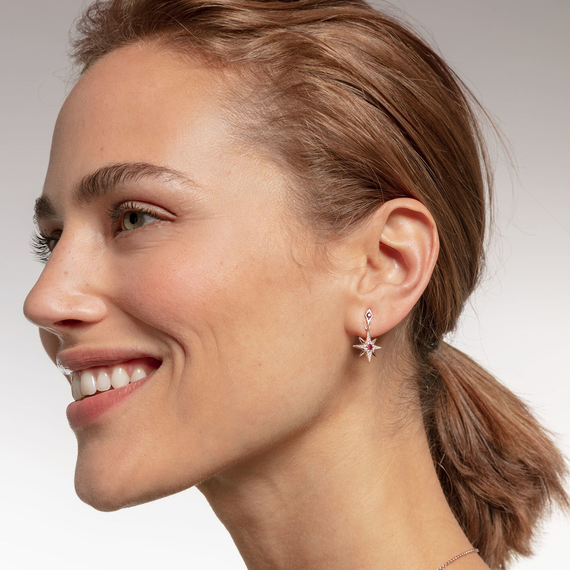Picture of Rose Gold Star Earrings