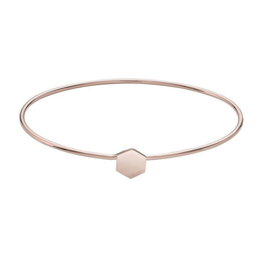 Picture of Rose Gold Hexagon Bangle