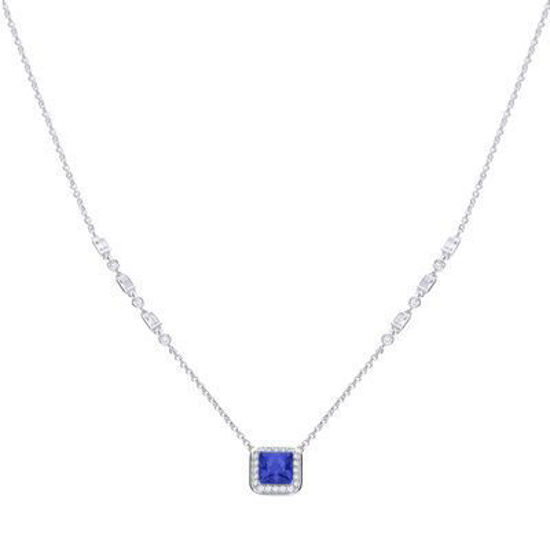 Picture of Art Deco Style Sapphire Pave Necklace