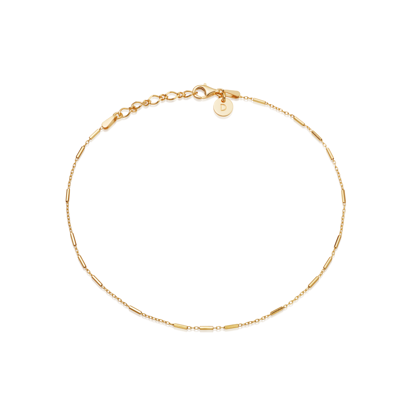 Picture of Artisan Anklet 18ct Gold Plate