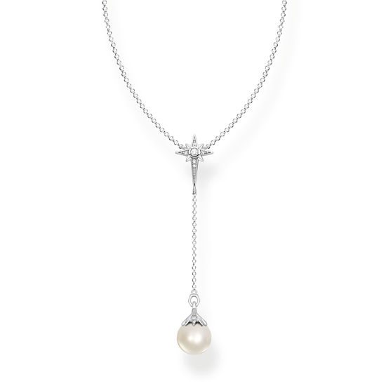 Picture of Pearl Star Necklace in Silver