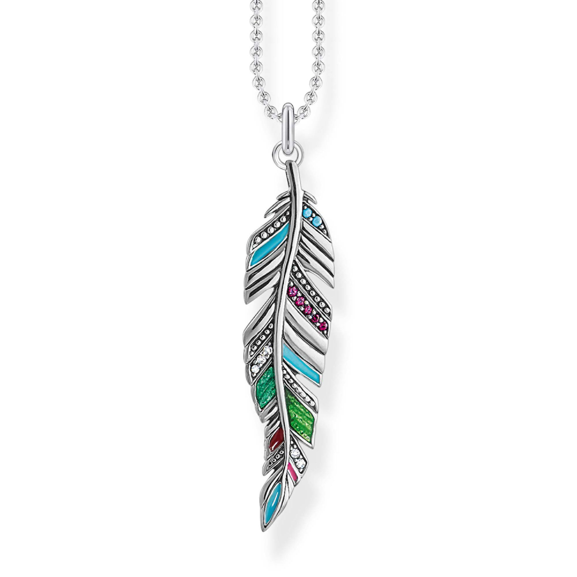 Picture of Colourful Ethnic Feather Necklace