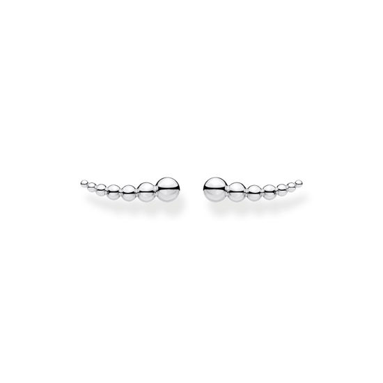 Picture of Silver Sphere Ear Climbers