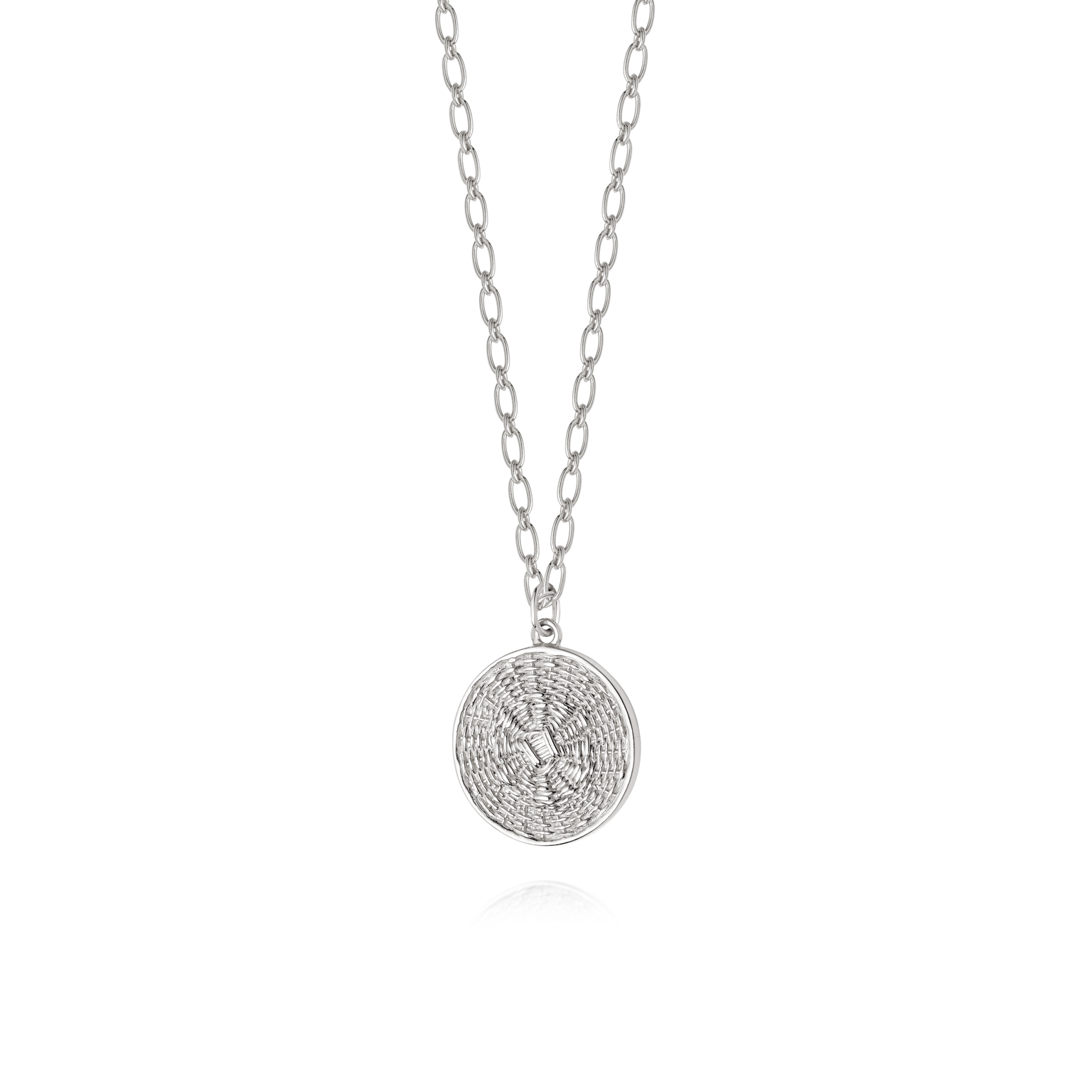 Picture of Artisan Woven Necklace Sterling Silver