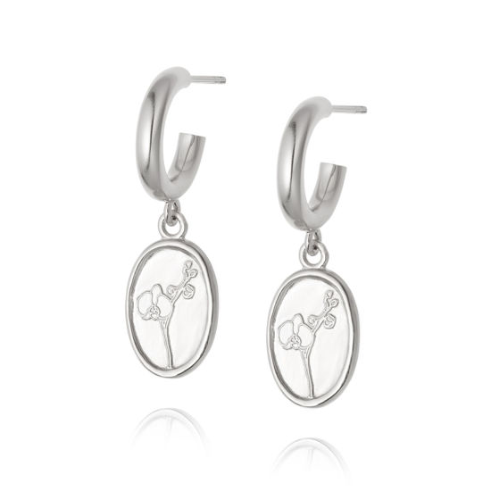 Picture of Floriography Orchid Drop Earrings Sterling Silver