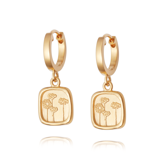 Picture of Floriography Wild Daisies Drop Earrings 18ct Gold Plate