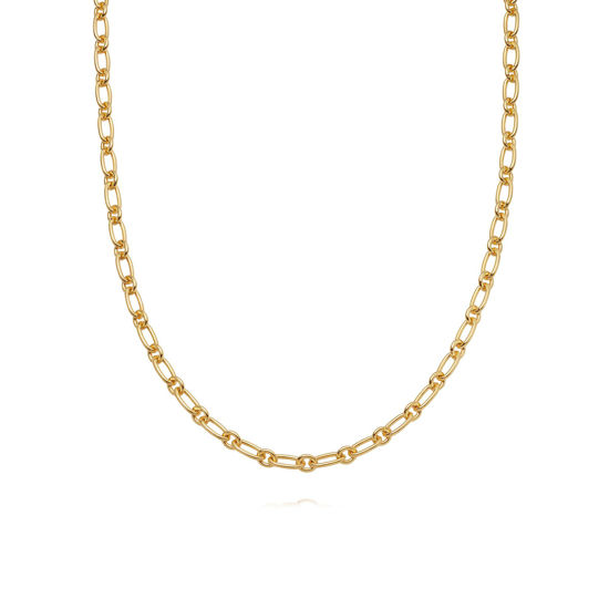 Picture of Stacked Linked Chain Necklace 18Ct Gold Plate
