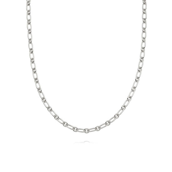 Picture of Stacked Linked Chain Necklace Sterling Silver