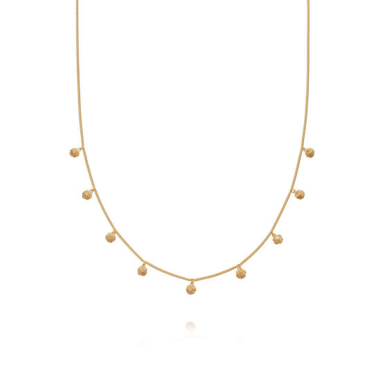 Picture of Stacked Knot Charm Necklace 18Ct Gold Plate