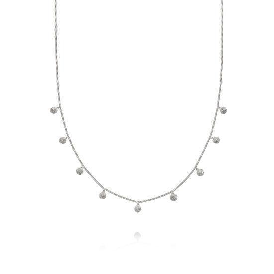 Picture of Stacked Knot Charm Necklace Sterling Silver