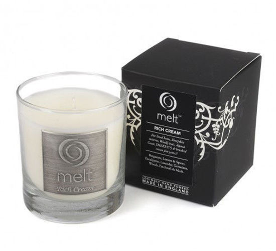 Picture of Rich Cream Luxury Glass Candle